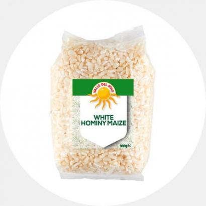 Valge purustatud mais