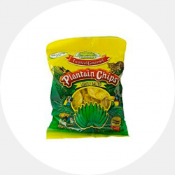 Salty plantain chip