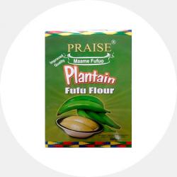 Plantain fufu flour